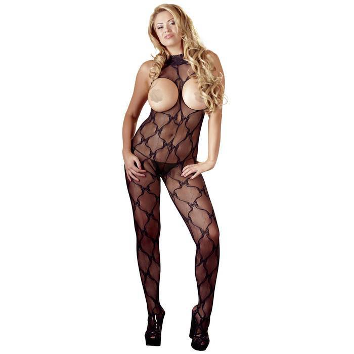 Mandy Mystery Plus Size Open Cup Crotchless Bodystocking