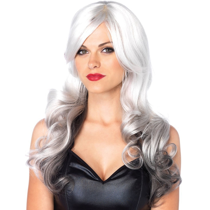 Leg Avenue Allure Long Wavy Grey Ombre Wig
