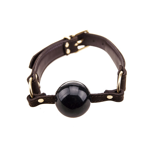BOUND Nubuck Leather Solid Ball Gag