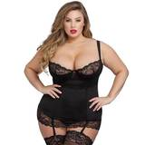 Lovehoney Plus Size Adore Me Black Underwired Basque Set