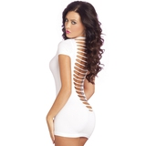 Pink Lipstick Party In The Back Seamless Mini Dress