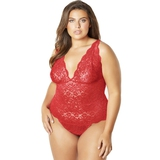 Oh La La Cheri Curves Plus Size Red Lace Body