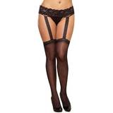 Dreamgirl Plus Size Sheer Suspender Belt Tights
