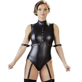 Cottelli Wet Look Body with Arm Restraints