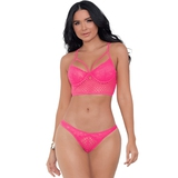 Escante Neon Honeycomb Lace Longline Bra Set