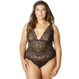 Oh La La Cheri Curves Plus Size Black Lace Body