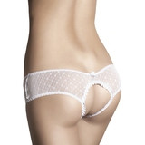 Anais Kitten Crotchless Lace Knickers