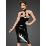 Noir Handmade Black Ultra-Shine PVC Harness Dress